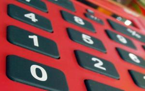 Calculator Red & Black
