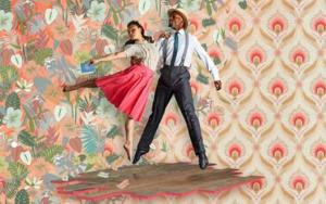Caribbean dancing couple
